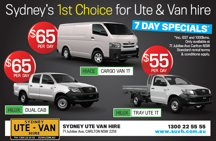acaebc09155f49 Specials - Sydney UTE Hire